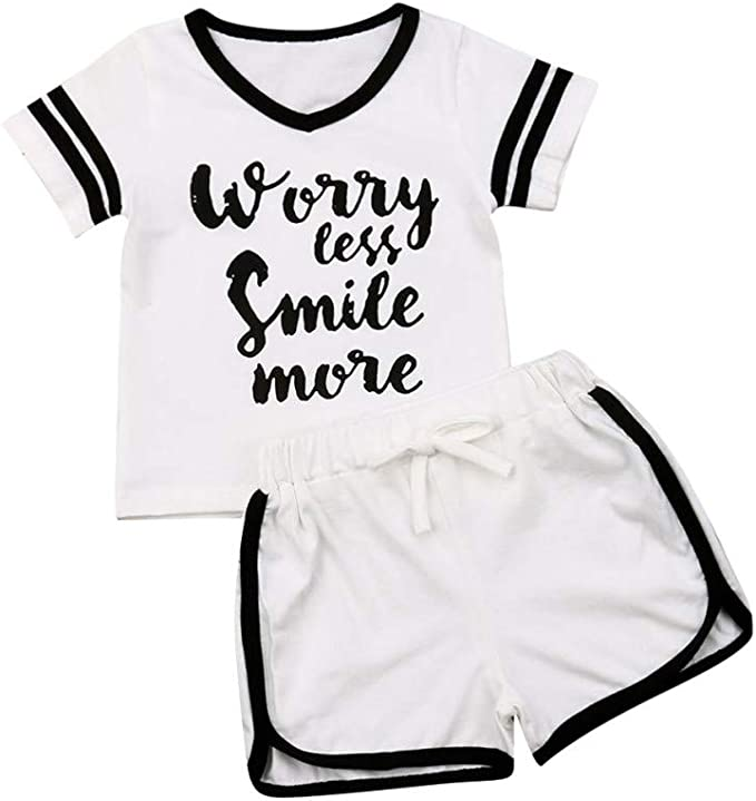 2pcs Toddler Infant Kid Baby Boys T-shirt Tops+Pants Summer Outfits Clothes Set