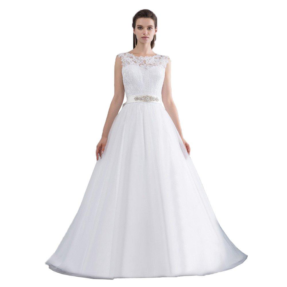 NUOJIA A Linie Hochzeitskleid Prinzessin Tüll Spitze Brautkleider ...