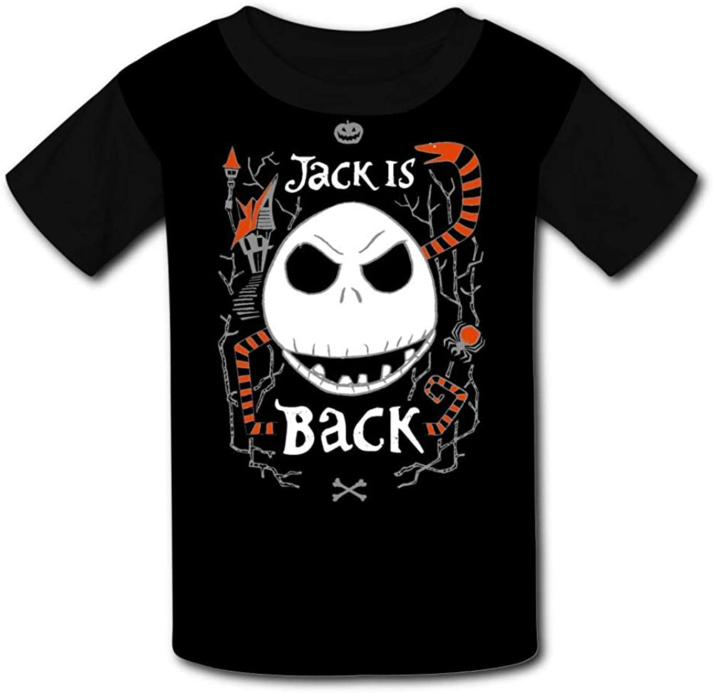 Halloween Jac-k is Back Kids T-Shirts Short Sleeve Tees Summer Tops for Youth//Boys//Girls