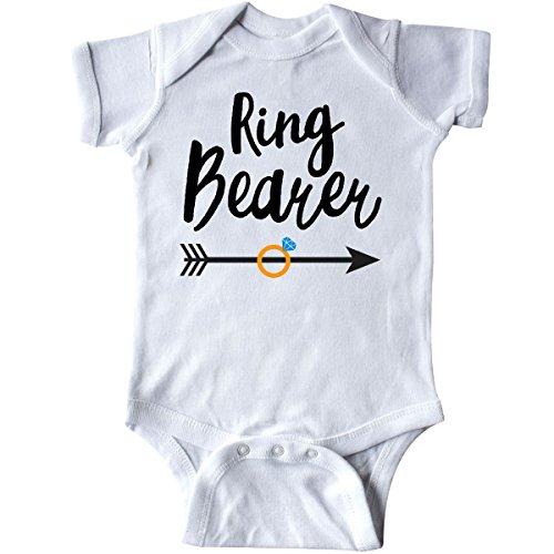 inktastic - Ringbearer with Arrow Infant Creeper Newborn White 28b14 ()