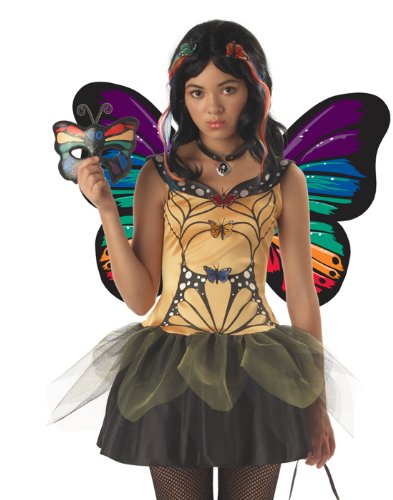 Tween Butterfly Costumes (Butterfly Masquerade Tween Costume (Girl - Child Large))