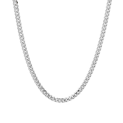 0ae487d0d Verona Jewelers 5.5MM Italian 925 Sterling Silver Classic Curb Cuban Chain  Necklace for Men- Curb Link Necklace Bracelet 8