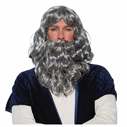 Biblical Wig & Beard Costume Set -