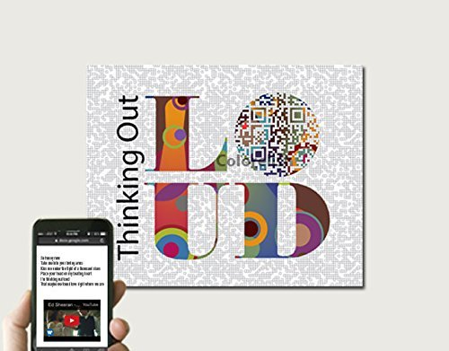 Thinking Out Loud / Ed Sheeran Inspired Song Paper Anniversary Gift for Him or Her - One Of A Kind Gift, QR Code Art, Birthday Gift For Him, 10x8 Print Only (Lyrics Loud Thinking Out)