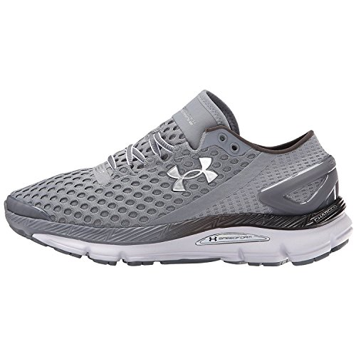Under Armour Womens UA Speedform Gemini 2.1 Record-Equipped Running Shoes Steel/White