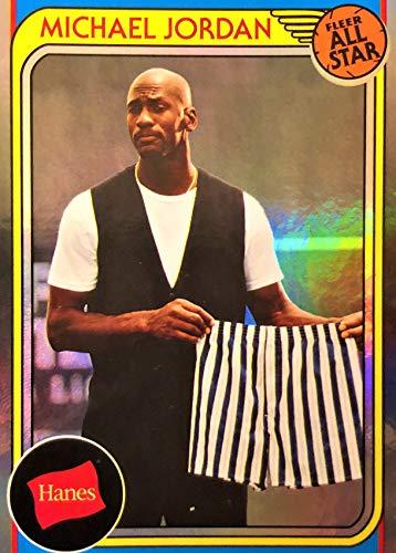 2019 Hanes MICHAEL JORDAN Basketball Card - Rare SILVER Foil Parallel All Star HA-7
