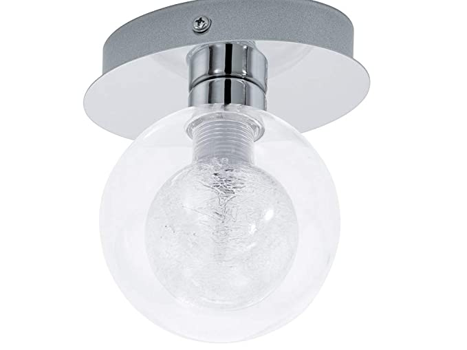 Eglo steel & glass l14 5 cm wall light rosarno designed by