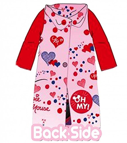 Official Licensed Girls Disney Minnie Mouse Sleeved Fleece with Button Closing