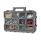 Husky 10-Compartment Interlocking Small Parts Organizer Black