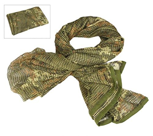 Camouflage Netting, LOOGU Tactical Mesh Net Camo Scarf For Wargame,Sports & Other Outdoor Activities