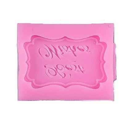 DDG EDMMS Molde de la Torta del Feliz cumpleaños patrón de Silicona Molde del Caramelo de