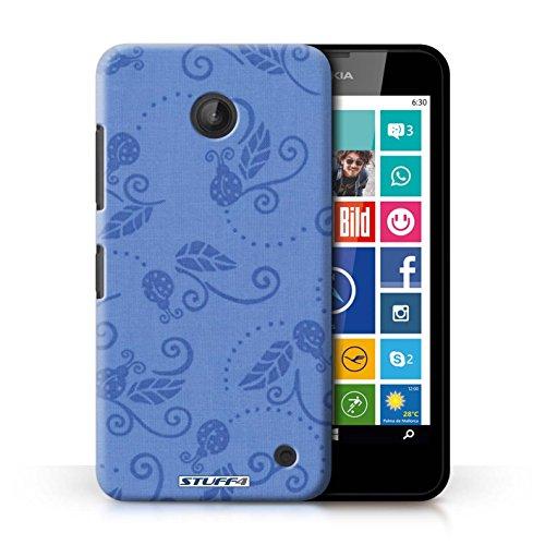 Kobalt® Imprimé Etui / Coque pour Nokia Lumia 635 / Bleu conception / Série Motif Coccinelle