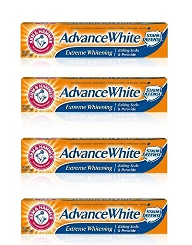 (Arm and Hammer Advance Whitening Toothpaste .9 Oz Travel Size 4 Pk.)