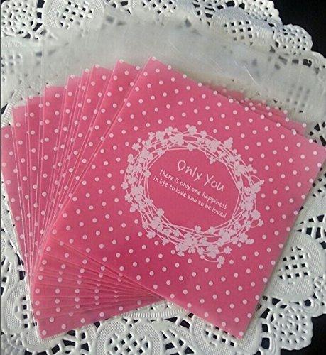 100pcs Lovely Cute OPP Self Adhesive Cookie Panadería Candy galleta DIY Bolsa de plástico de regalo dulces ('Only You)