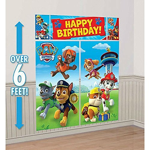 PAW PATROL WALL POSTER DECORATING KIT ~ Birthday Party Supplies Decorations ()