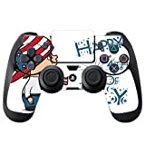 Cute Boy with American Flag Hat Happy 4th of July Quote Celebration Image Design Pattern PS4 DualShock4 Controller Vinyl Decal Sticker Skin by Trendy Accessories