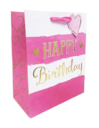 Geschenktasche Geschenktüte medium Happy Birthday Geburtstag