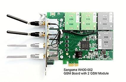 Amazon com: Sangoma W400-002E Quadband GSM PCIe Asterisk Voice Card