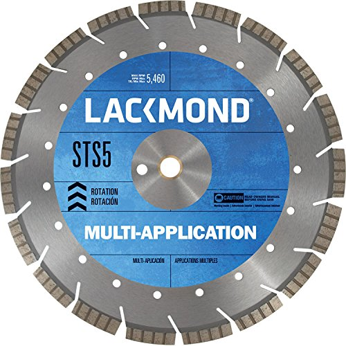 Series Walk Behind Concrete Saw (Lackmond STS51212520 Multi-Application STS5 Series Segmented Turbo Diamond Blade,12-Inch by .125 by 20mm)