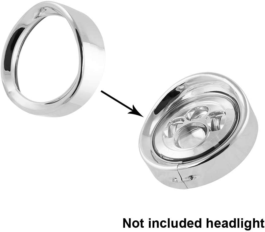 Road King 94-14 FLHR,12-14 FLD /… 7 Chrome Headlight Trim Ring,Motorcycle Headlight Retainer 7Inch Decorate Ring for Motorcycle 83-13 Touring Bikes 12-2016 FLD,86-14-FLST Chrome 1PC