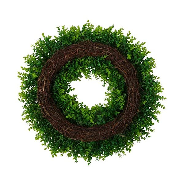 """U'Artlines 20"""" Artificial Greenery Wreath Plants Spring Summer Backdrops Ornaments Garland Front Door Wreaths Display for Home/Wall/Christmas/Party/Festival Decor (20″, Pattern 1)"""