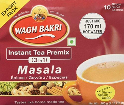 Great Bazaar Wagh Bakri Instant MasalaChai Tea, 260 Gram