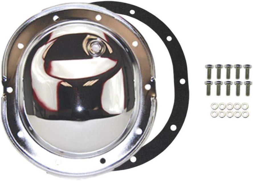 "Rear Chrome Differential Cover w// Fill Plug 8.25/"" 10 Bolt Dodge Chrysler 8 1//4"