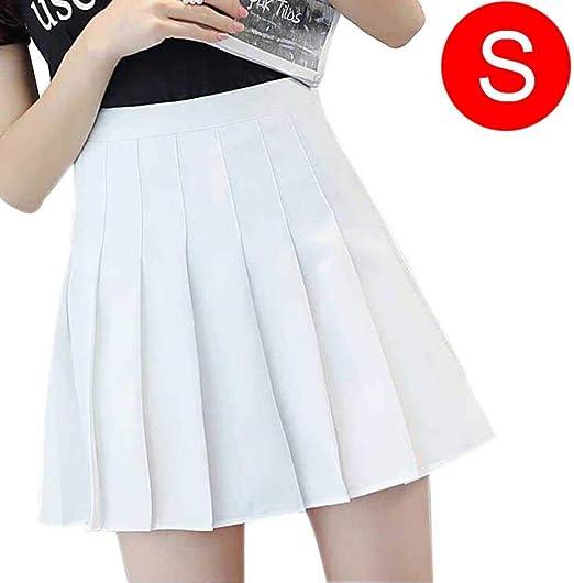 Vestido de cintura alta plisado para mujer, estilo universitario ...