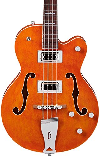 tromatic Hollow Body Long Scale Bass Guitar - Orange (Hollow Body)