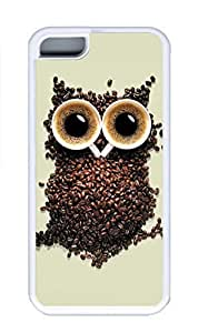 LJF phone case iphone 6 plus 5.5 inch Case, Personalized Custom Rubber TPU White Case for iphone 6 plus 5.5 inch - Owl Creat Cover