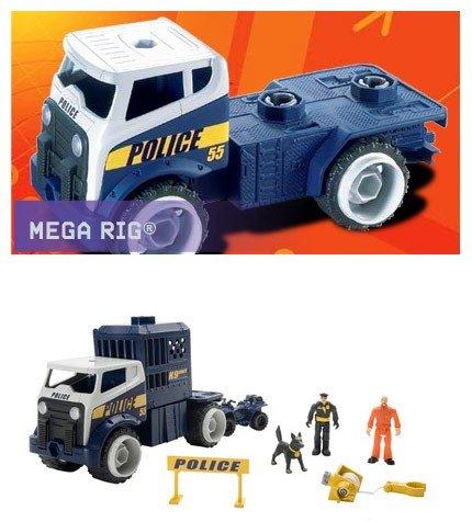 Mattel Matchbox Mega Rig K-9 Police Unit Emergency Action Pack - Mattel Matchbox Mega Rig