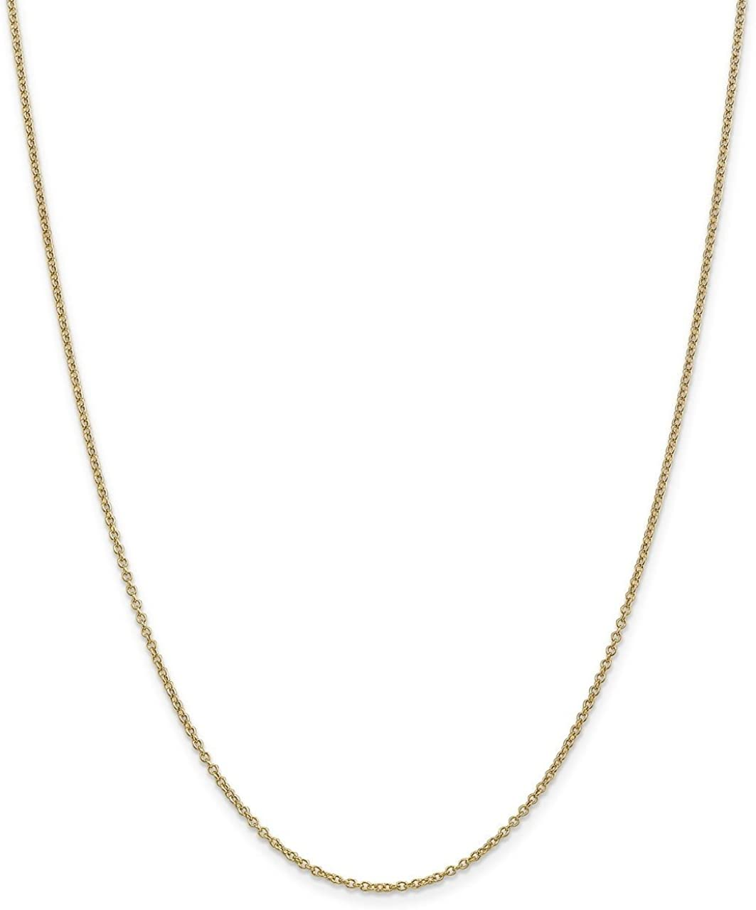 Lex /& Lu 14k Yellow Gold 1.3mm Cable Chain Necklace