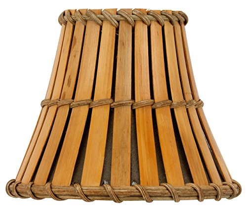 Upgradelights Bamboo Style 6 Inch Mini Clip On Chandelier Lamp Shades (Bamboo Lamp Shade)