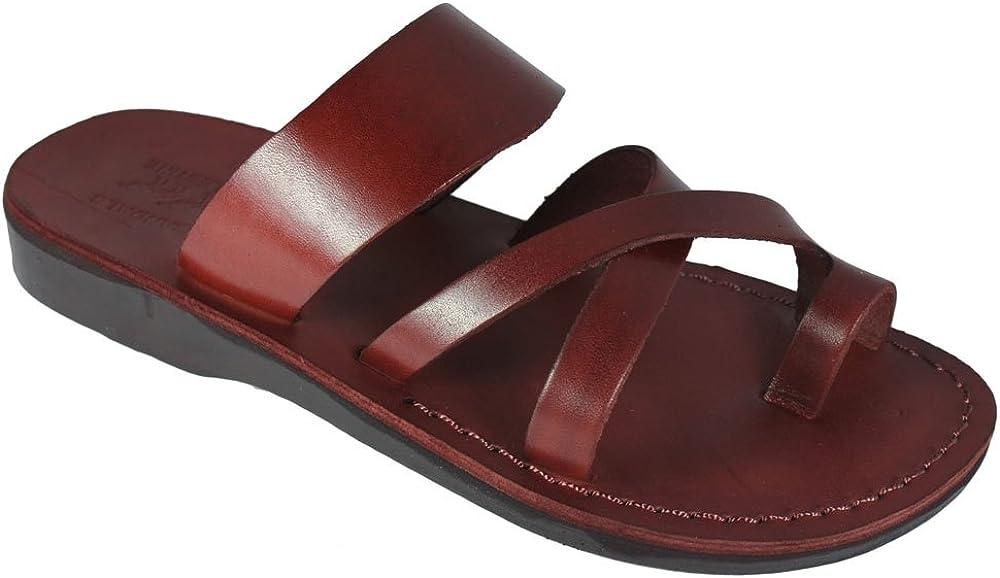 Unisex Genuine Brown Leather Style #008 Jesus Biblical Greek Roman Sandals