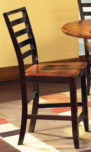 Abaco Counter Height Dining Chair In Multi Step Acacia [Set Of 2]