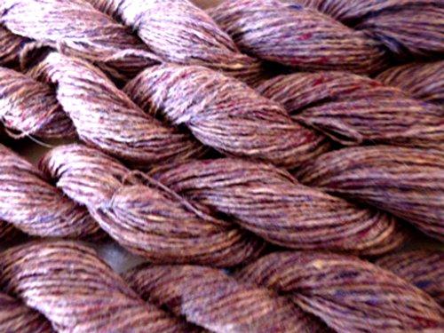 (FOUR PACK Brown Tweed 100% Shetland Blend Wool Sock Fingering Yarn)