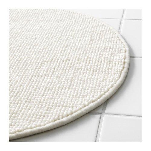 Ikea White Supersoft Bath Shower Mat Rug Bathmat Bathroom Floor Round, 22.5'' diameter