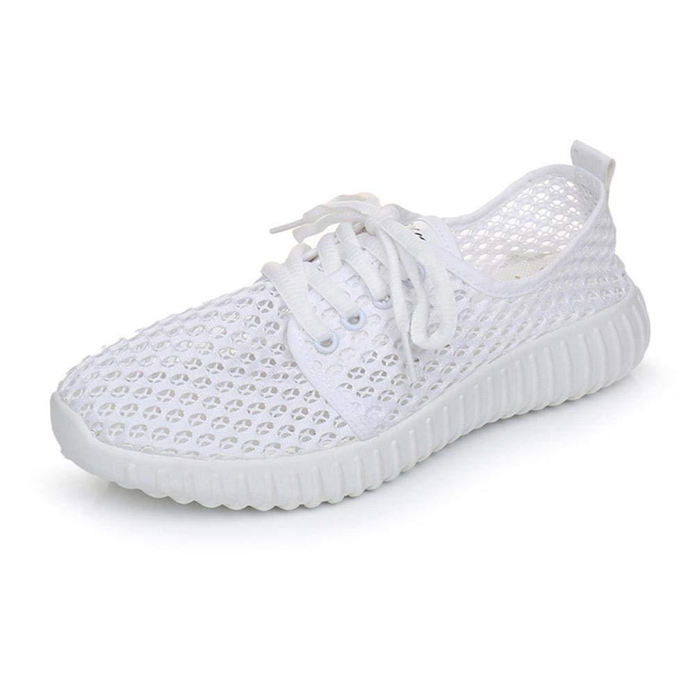 Yesmile Zapatos de mujer❤️Zapatos Ocasionales de Malla de Las Mujeres Zapatillas de Deporte con Cordones Antideslizantes Transpirables de Color sólido: ...