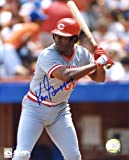 Ken Griffy, Sr. Autographed /Original Signed 8x10 Color Photo Showing Him with the Cincinnati Reds - His First Team