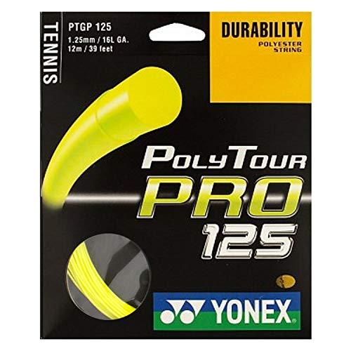 Pro Tennis String - YONEX Poly Tour Pro 16 Tennis String (Yellow)