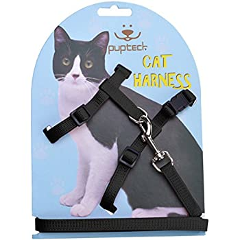 Pet Supplies Catit Nylon Adjustable Cat Harness And Leash Set