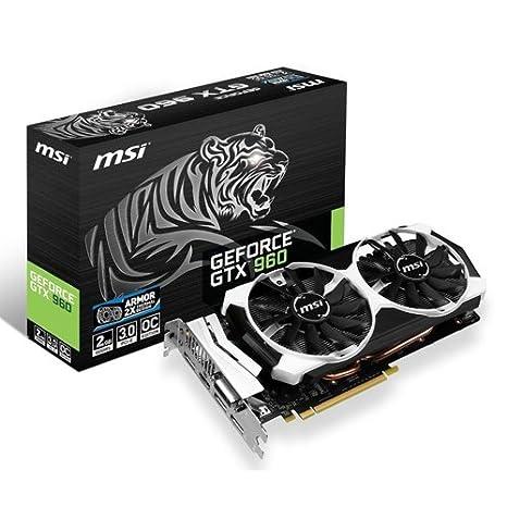 MSI GeForce GTX 960 - Tarjeta gráfica GeForce GTX 960 (ATX, HDMI, DL-DVI-I, GDDR5, 128 M x 32 bit)