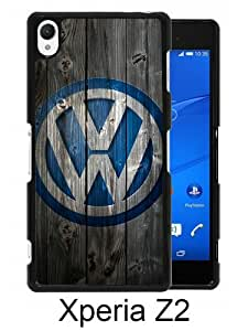 Beautiful And Unique Designed Case For Sony Xperia Z2 With Volkswagen logo black Phone Case
