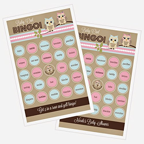 3 sets of 16 Woodland Owl Bingo by Eventblossom