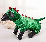 Q Dou Pet Pet Dinosaur Hoodies Costume for Dogs Winter Coat Warm Pet Jumpsuit Clothes (XL)