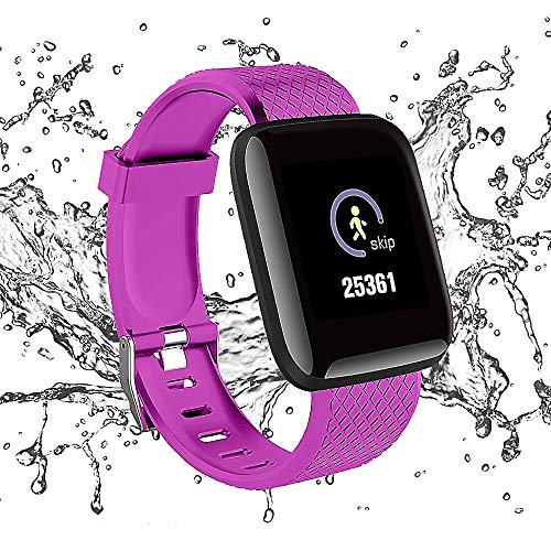 (2019 Version) Martin's HomeM1 Smart Watch Wristbands Bracelet, Pedometer Fitness Tracker with Colorful Screen & Heart Rate, and Blood Pressure Monitor for Kids Women and Men (Purple) (Best Health Wristbands 2019)