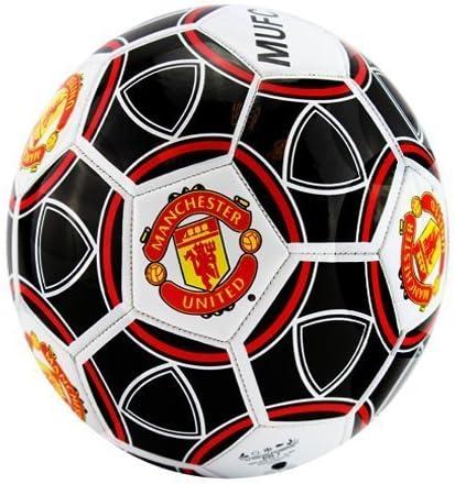 Rhinox Manchester United de balón de fútbol tamaño 5 (Blanco/Negro ...