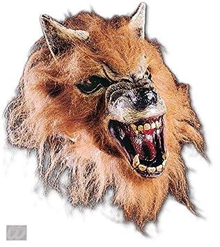 Horror-Shop Gruñendo media máscara de hombre lobo
