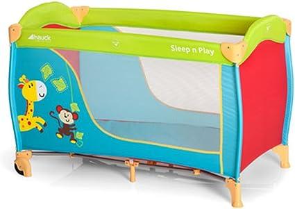 Hauck // Sleep N Play Go // Lit Parapluie 3 pi/èces // 120 x 60 cm // de la naissance jusqu/'/à 15 kg // avec roulettes sac de transport // pliable matelas inversable // Jungle Fun l/éger Multicolore