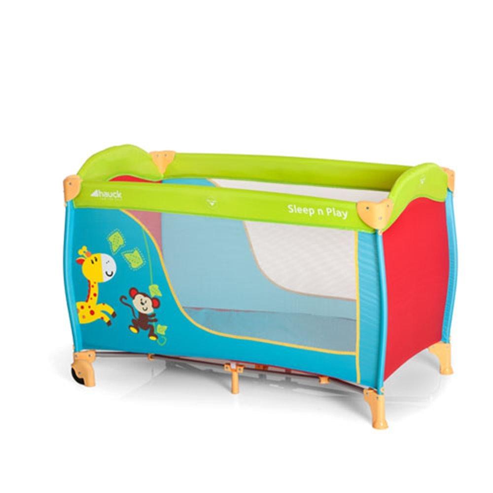 120 X 60Cm Jungle Fun Hauck Sleep N Play Go Travel Cot With Folding Mattress